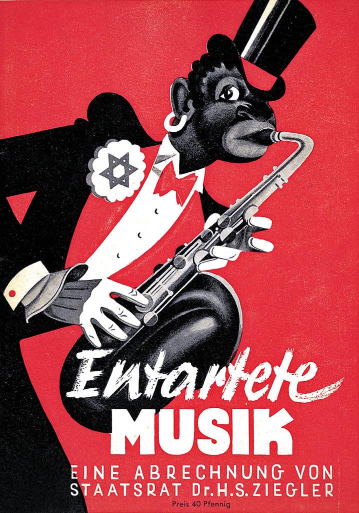 Entartete Musik, musica degenerata, manifesto nazista contro il jazz negroide