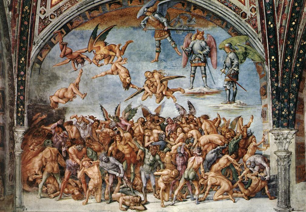 Luca Signorelli, Cappella di san Brizio, Dannati all'inferno